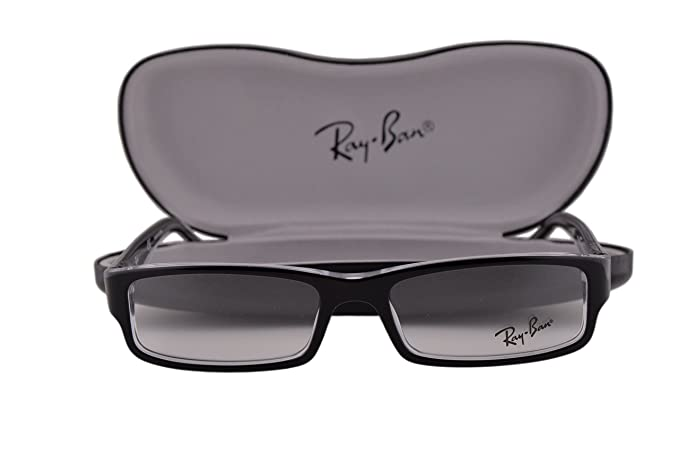 5d7666b4e1 Image Unavailable. Image not available for. Colour  Ray Ban RX5246  Eyeglasses 50-16-135 Top Black On Transparent 2034 RB5246