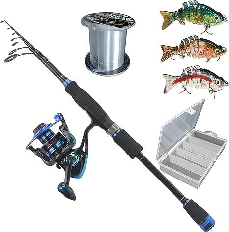 himenlens B30 principiante ocio pesca spinning caña y carrete ...