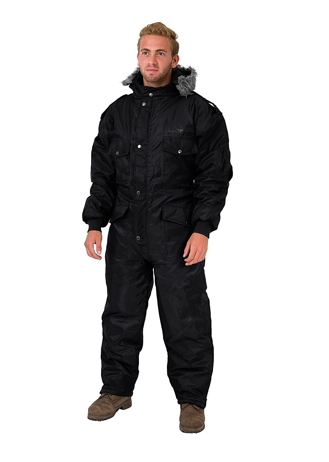 Black Snowsuit Winter Clothing Snow Ski Suit Coverall Insulated Suit HAGOR