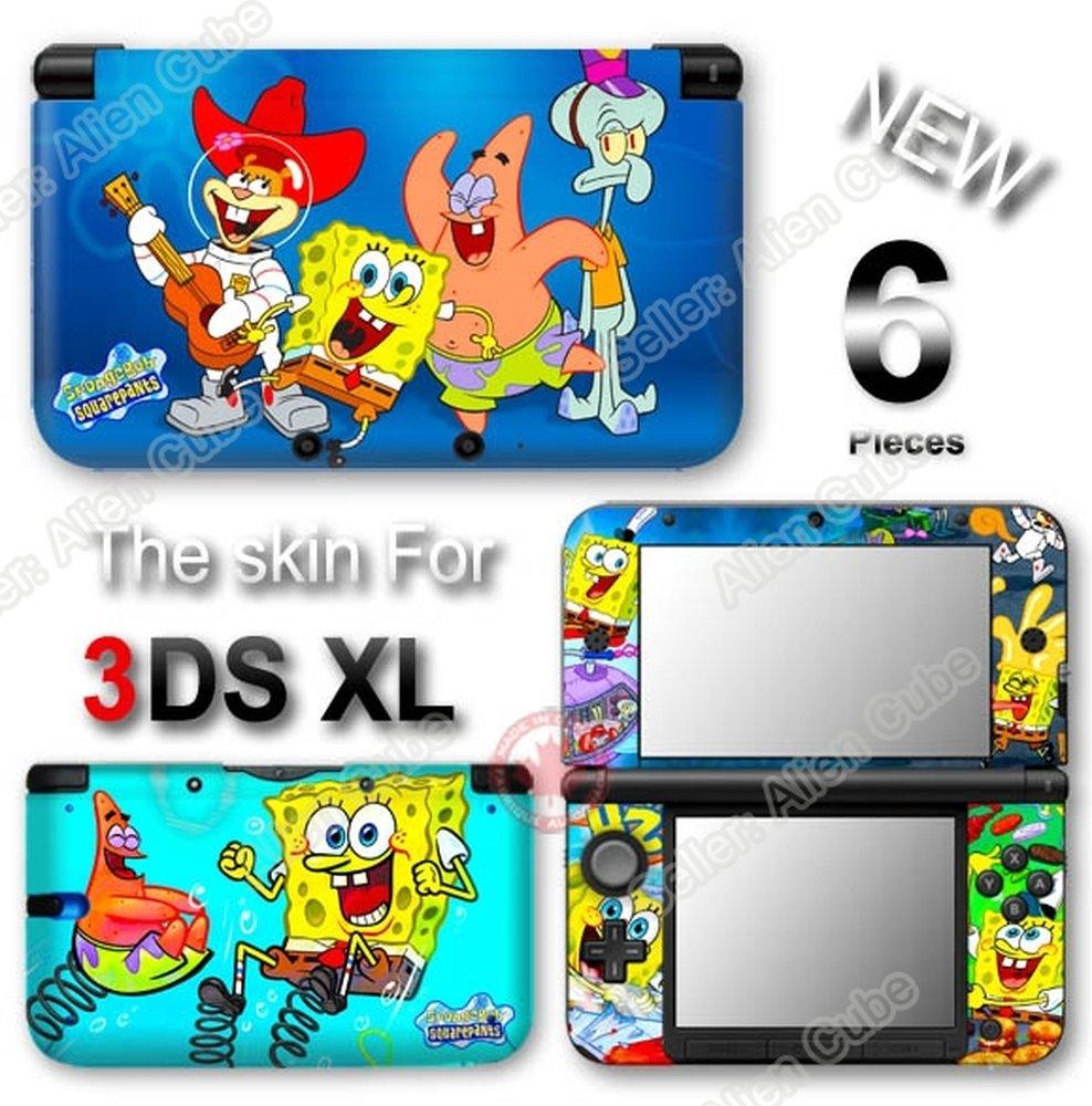 Spongebob Squarepants NEW SKIN VINYL STICKER DECAL COVER #1 for Original Nintendo 3DS XL