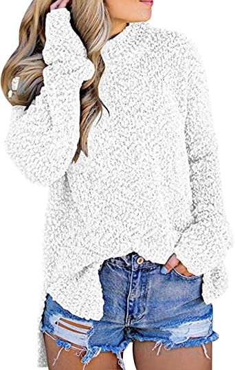 Suéter Largo Mujer Jersey Punto Cuello Alto Mujer Oversize ...