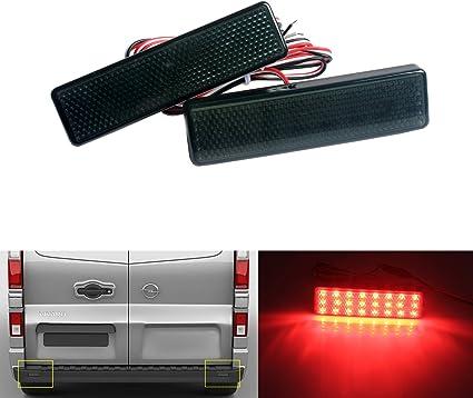 Renault Master TRAFIC Rojo LED Reflector Parachoques Trasero Lámpara De Luz Trasera Freno Señal