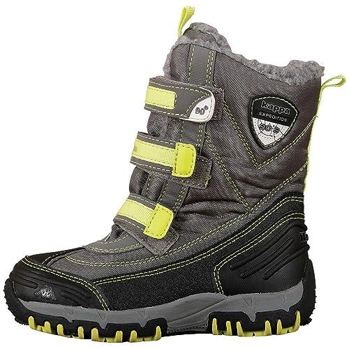 e3d66ddc82a Kappa Unisex Kids' Ben Tex Combat Boots, (1633 Grey/Lime), 12.5 UK ...