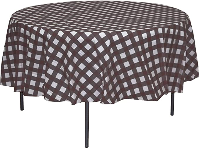 Black and Red, 55/×71 Wracra Buffalo Plaid Round Tablecloth Rustic Checkered Table Cover for Kitchen Dinning Room Party Home Picnic