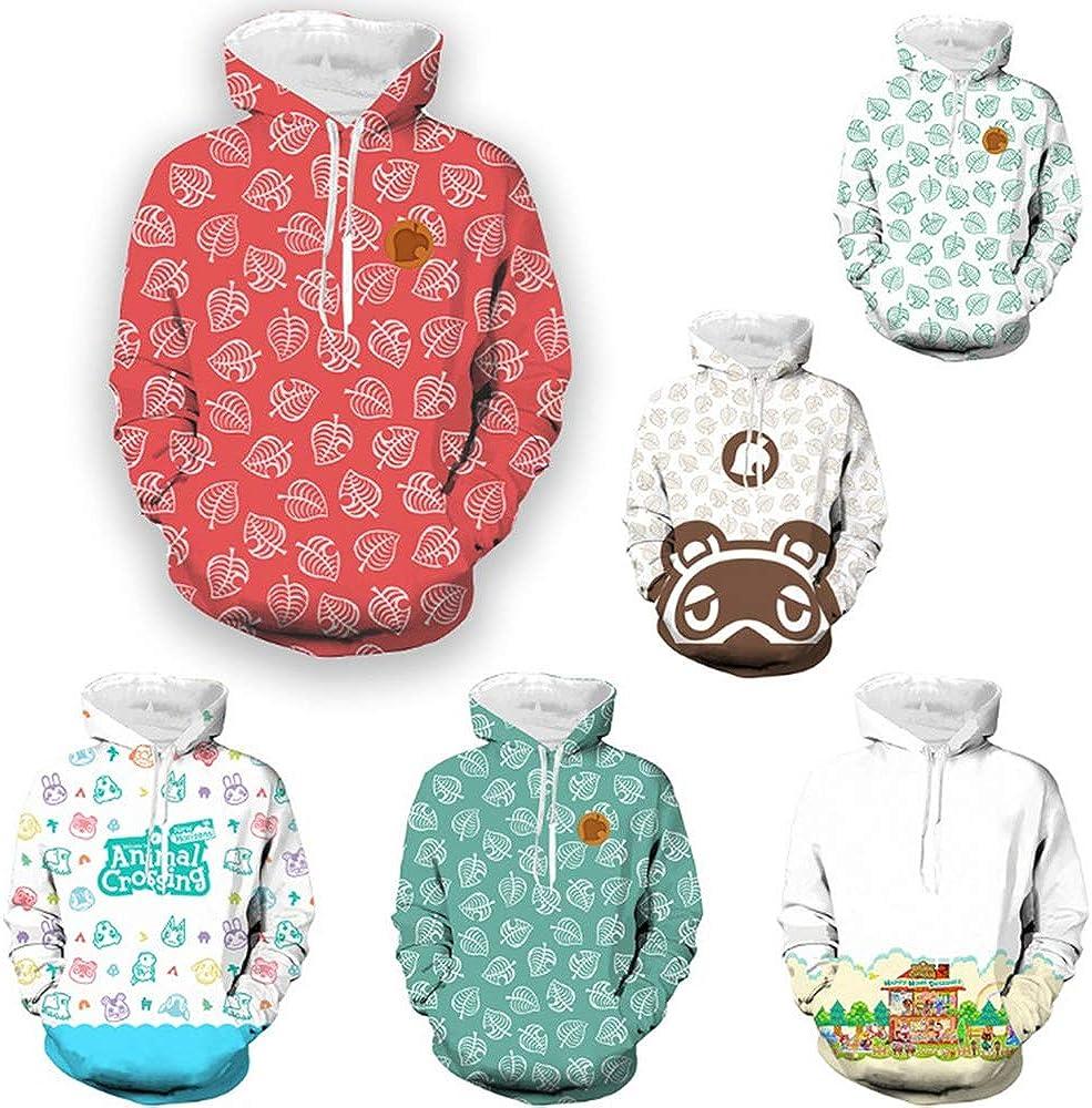 Spiel f/ür Erwachsene//Kinder Animal Crossing 3D-gedrucktes T-Shirt Unisex Hoodie Cosplay Kost/üm Anime Party