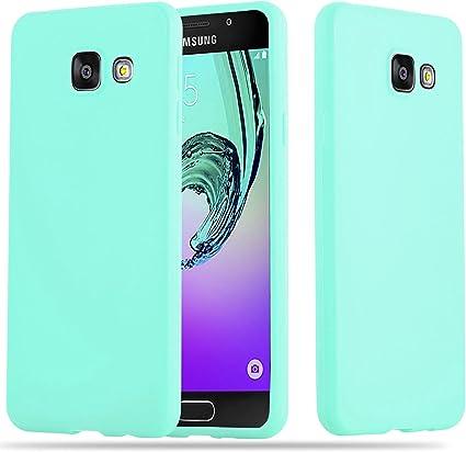 Cadorabo Coque pour Samsung Galaxy A3 2016 en Candy Bleu - Housse Protection Souple en Silicone TPU avec Anti-Choc et Anti-Rayures - Ultra Slim Fin ...