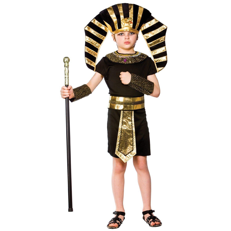 96484da1851ca7 (L) Boys Egyptian Pharaoh Costume for Ancient Historic Fancy Dress Kids  Childs  Amazon.co.uk  Toys   Games