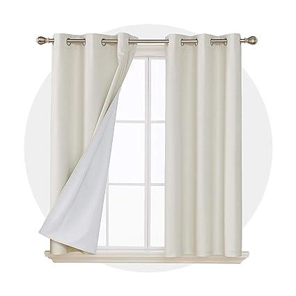 Deconovo Faux Linen Noise Cancelling Curtains Amazon