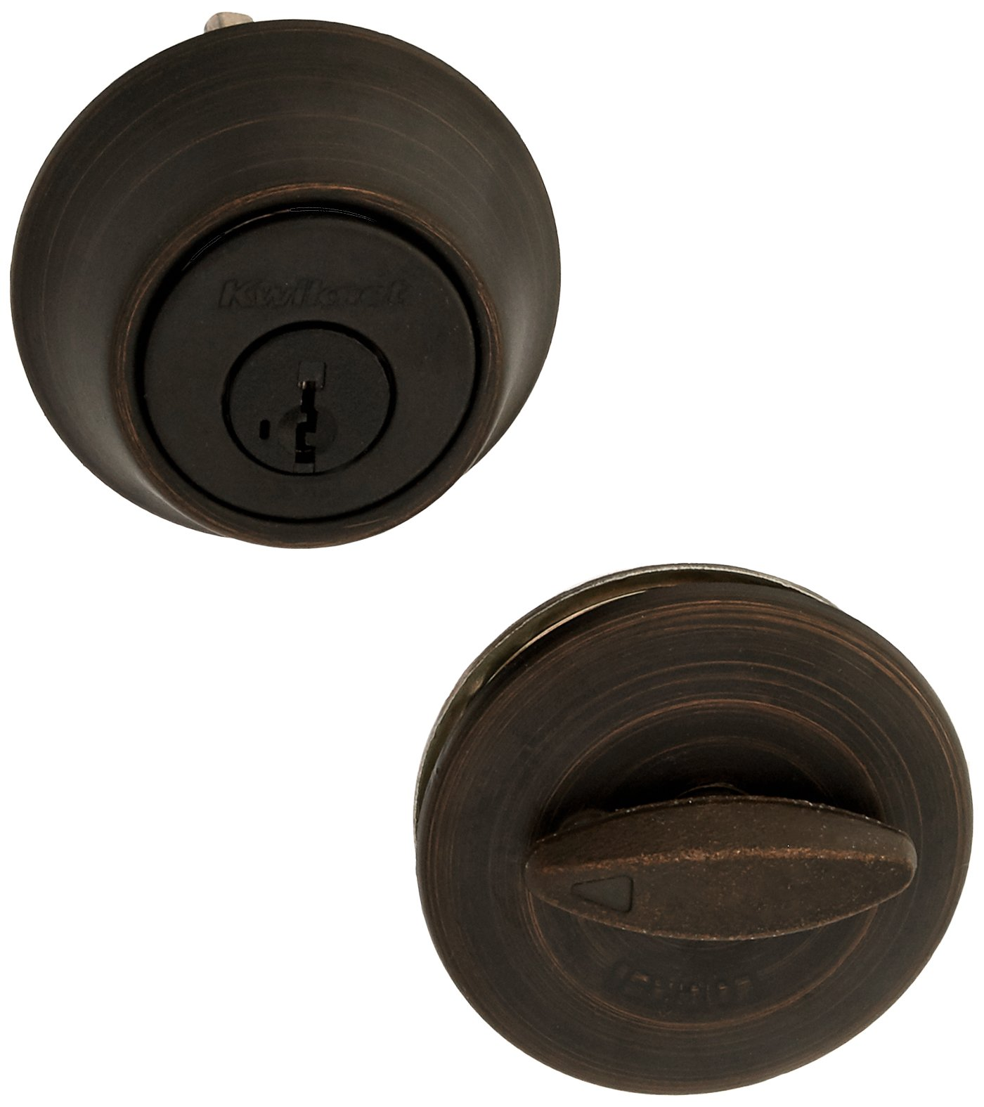 Kwikset 660 11P 660 Series 660 Single Cylinder Deadbolt, Venetian Bronze