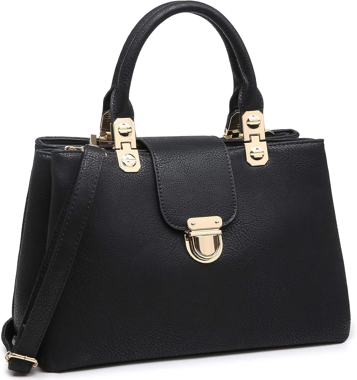 Dasein Women Satchel Handbags Vegan Leather Purses Tassel Shoulder Bags Work Tote for Ladies with Long Strap