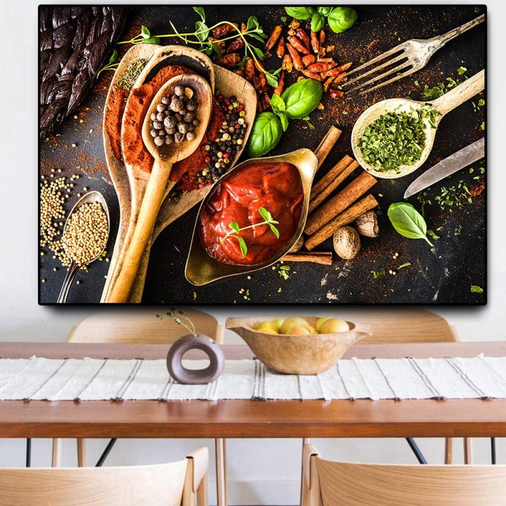 NIMCG Ingredientes HD impresión Grande Pintura Cocina Lienzo ...