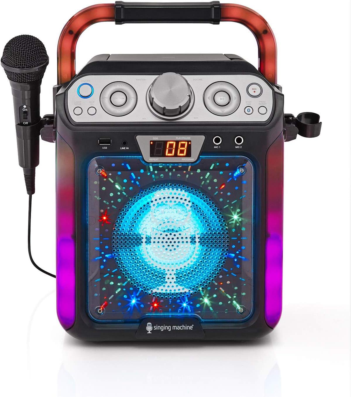 Singing Machine SML682BTBK Groove Cube CDG Karaoke System, Black