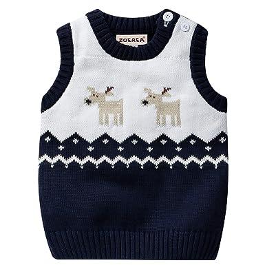 6dca1aa65 ZOEREA Baby Sweater Vest Boys Girls Toddler Warm Waistcoat Newborn ...