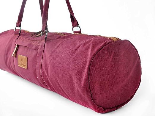 Bolsa de yoga »Vikram« de #DoYourYoga / Hecha con lienzo (lona) 100 %, con un laborioso acabado / Para esterillas de yoga y pilates de hasta 186 x 60 ...