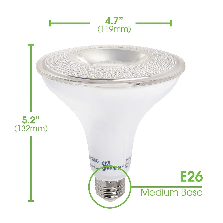 120W Equivalent 1250 Lumens Indoor//Outdoor 15W 4 Pack 5000k Daylight LED PAR38 Dimmable Flood Light Bulb Weatherproof Energy Star, 120V