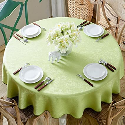Large Round Table Cloth.Amazon Com Tablecloth Simple Solid Color Round Tablecloth Modern