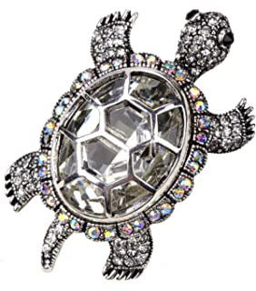 Loveangel Jewellery Women's Crystal Big Turtle Pin Brooch Pendant ZJZUy5JNTS