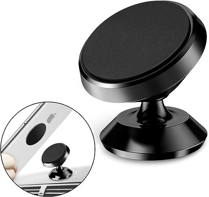 Soporte Móvil Coche, SEGURO Giratorio de 360 Grados Soporte Magnético Universal Soporte de Teléfono de Montaje en El Auto para Coche Soporte de Smartphone para iPhone Android Smartphone GPS Navegador: Amazon.es: Electrónica