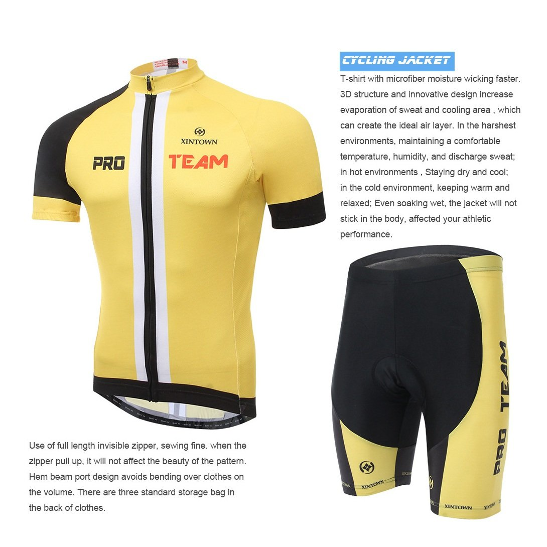 1f58b48ea Cycket XINTOWN Summer Mens Unisex Breathable Quick-Dry Cycling Full-Zip  Short Sleeve Pants Bicycle Clothing Sets Suits Bike Racing Mountain Biking  Outdoor ...