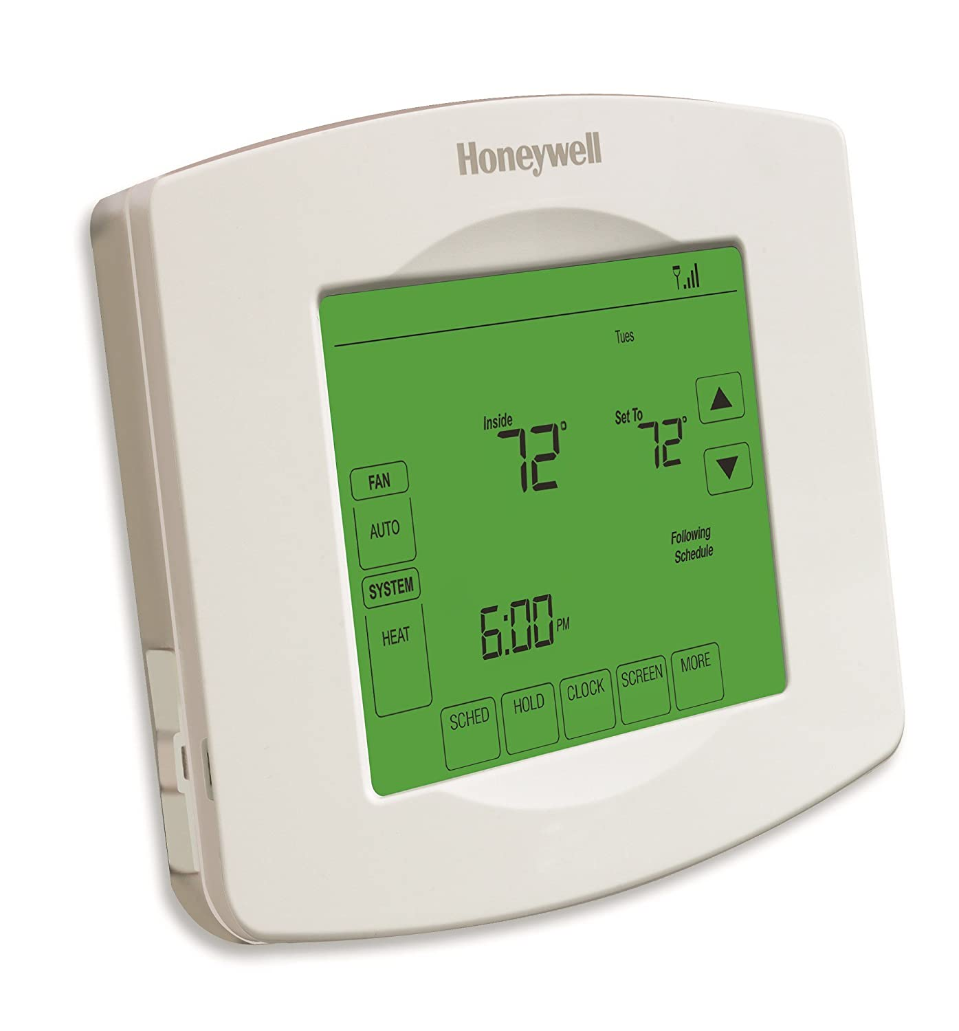 Honeywell RTH8580WF 7 Day Wi-Fi Programmable Touchscreen Thermostat, White  - Programmable Household Thermostats - Amazon.com