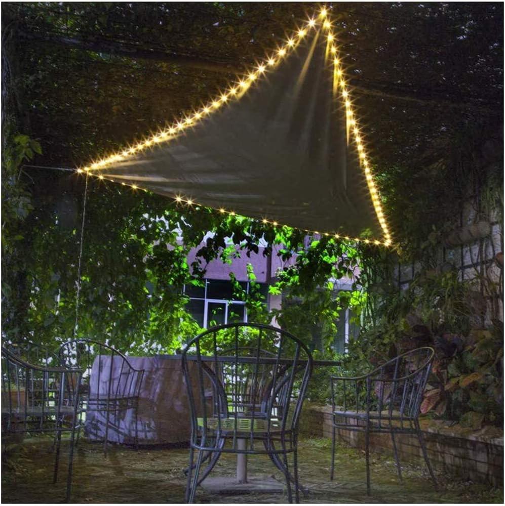 Vela De Sombra Triangular con Luz LED, Tejido De Poliéster Oxford Impermeable Balcón Y Terraza Protección Solar con 95% Toldos De Bloque UV para Jardín Exterior, Gris: Amazon.es: Deportes y aire libre