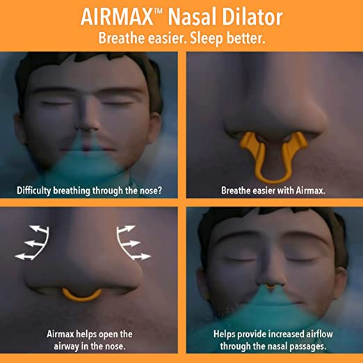 Amazon.com: AIRMAX Nasal Dilator for Better Breathing – Natural, Comfortable, Breathing Aid Solution for Maximum Airflow & Reduced Nasal Congestion (Medium ...