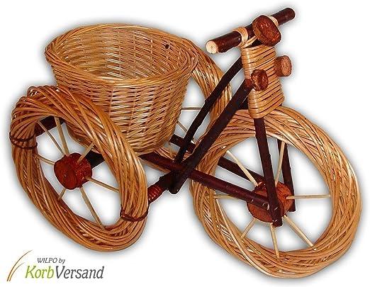 Wilpo Cesta de flores 60x32x44 Cesta de plantas Bicicleta Sauce ...