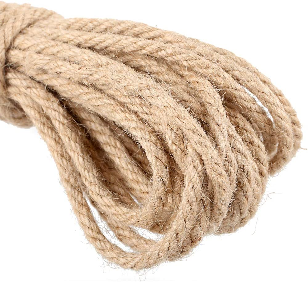 HUSMUED 328 Feet Natural Jute Twine Best Arts Crafts Gift Twine Christmas Twine Durable Packing String for Gardening Applications 2PCS