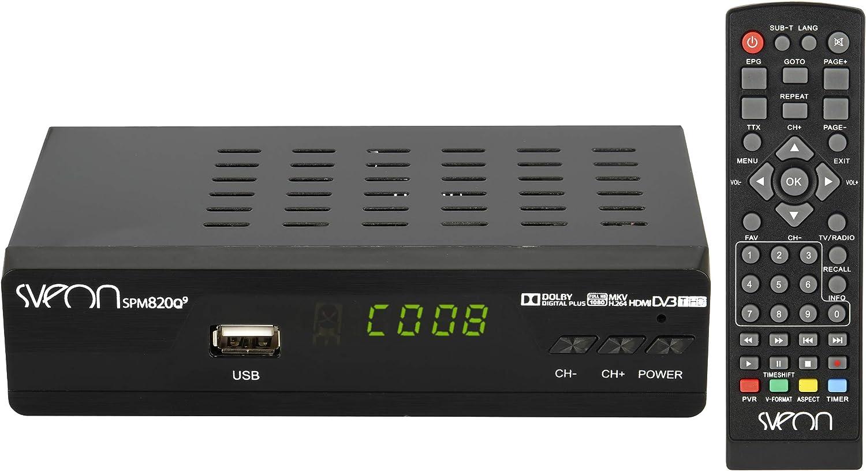 Sveon Spm820Q9 - Reproductor Multimedia Mkv Con Funciones De Tdt, Hdmi Y Euroconector, Color Negro: Amazon.es: Electrónica