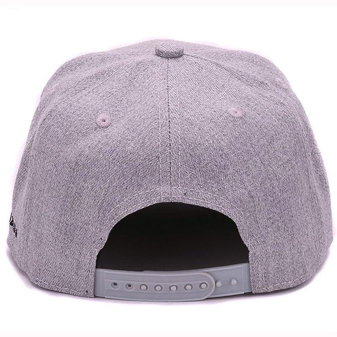 AKIZON Adjustable Snapback Embroidery 3D Hip Hop Cap Flat Bill Baseball Cap at Amazon Mens Clothing store: