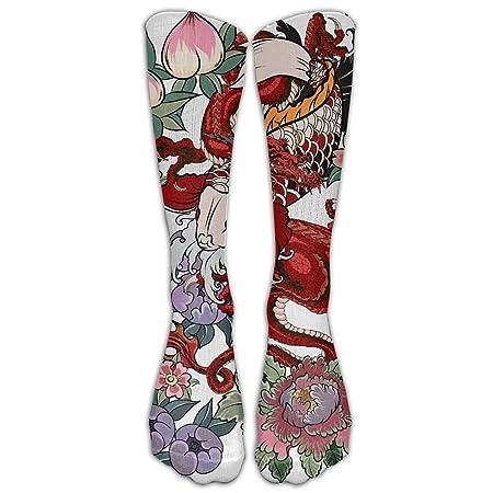 CYMO Calcetines de compresión con diseño de Tatuaje japonés ...