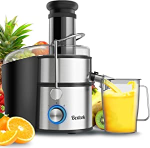 Juice Extractor, Bextcok Centrifugal Juicer Machines Ultra Fast Extract Various Fruit and Vegetable Electric Juice Extractor with 3
