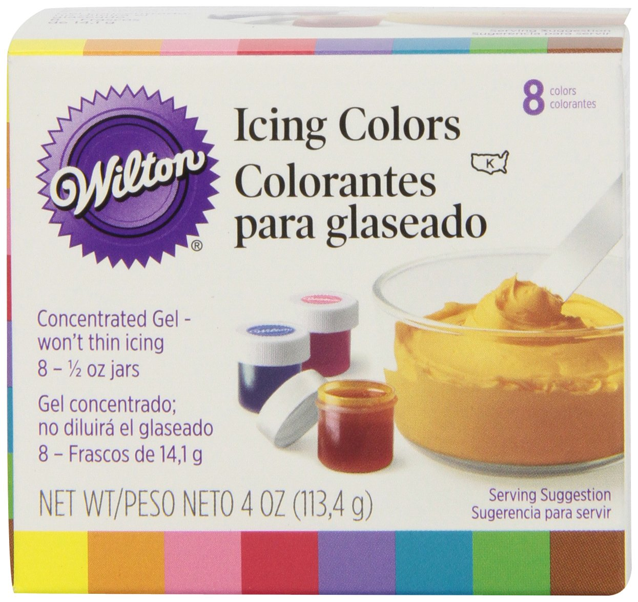 Amazon.com: Wilton Set of 8 Icing Colors: Kitchen & Dining