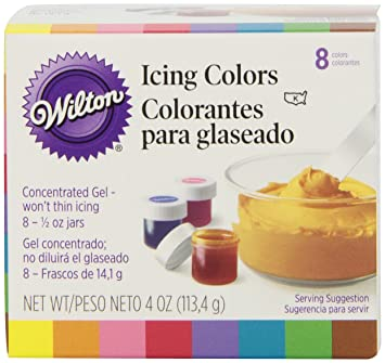 wilton set of 8 icing colors - Colorant Gel Wilton