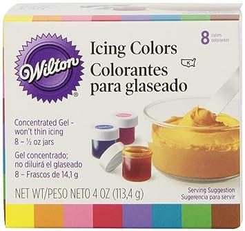 wilton set of 8 icing colors - Gel Colorant Wilton