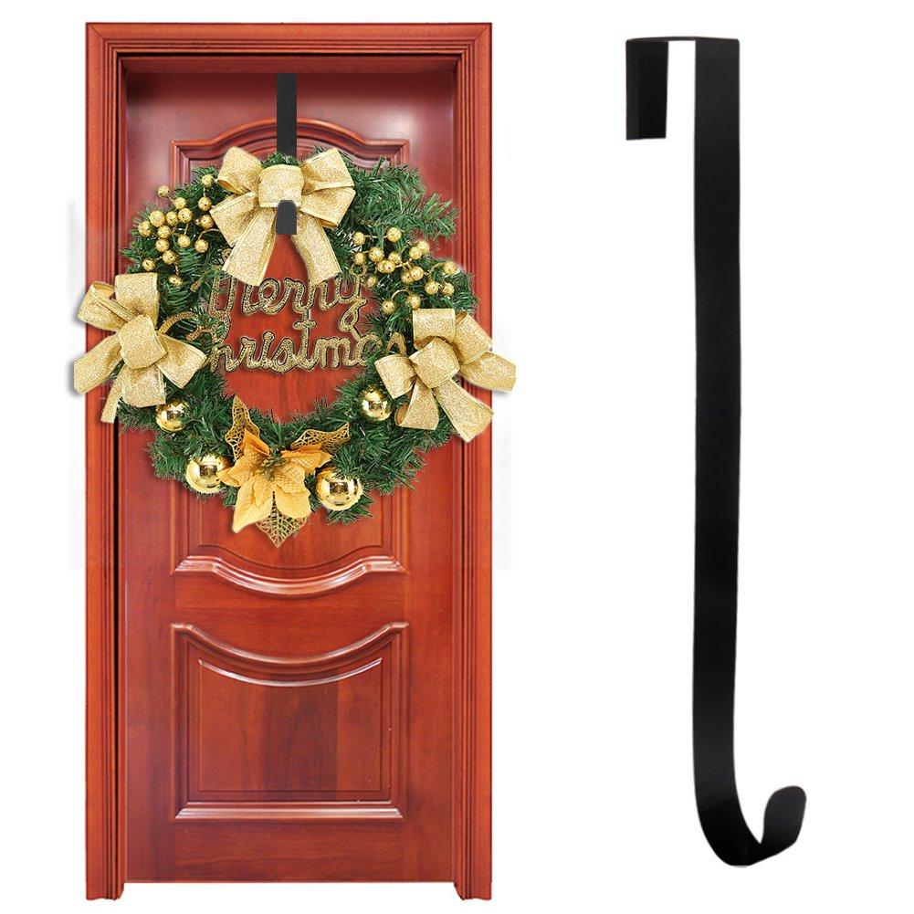 Yuccer Door Hanger Gancho de Guirnalda de Puerta en Metal Perchas de Puerta Colgadores de Puerta Abrigo Sombrero Ganchos 15 Pulgadas 1 Paquete