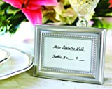 Kate Aspen Place Card Holder Picture Frame, Photo Frame, Table Decor and Displays Table Assignments at Weddings, Bridal Showers, Baby Showers & More, Silver, Set of 12