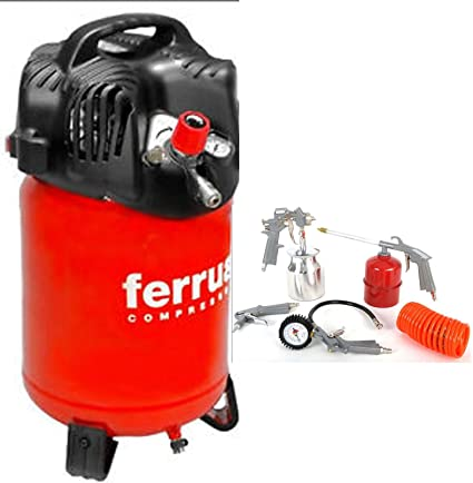 Compresor Aire Vertical Finas Ferrua Twenty 24 24 L + Kit Accesorios 5 Piezas