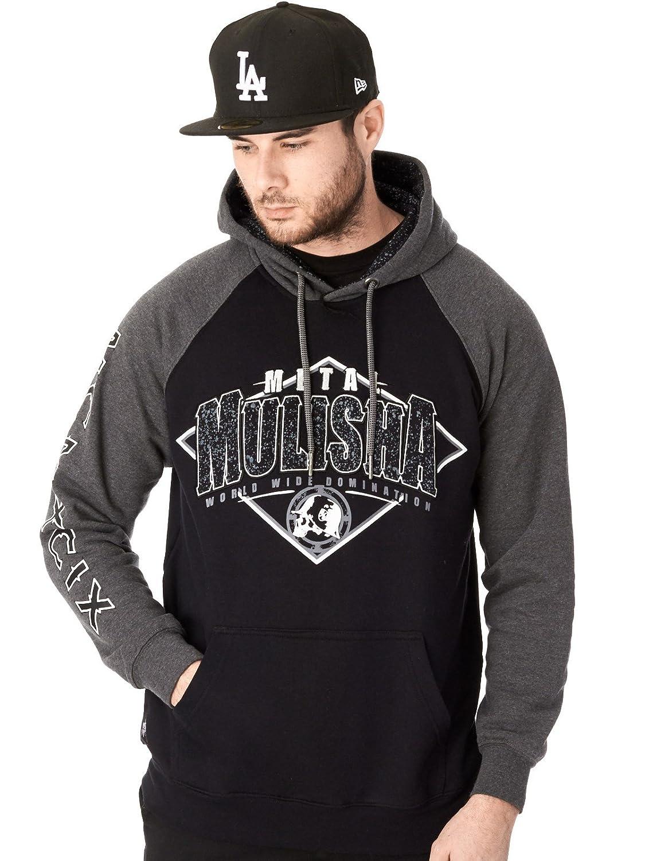 Metal Mulisha Herren Kapuzensweater Burn Pullover schwarz grau - S und M normal, ab L 1 grösser