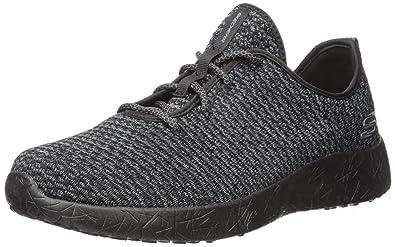 UK Shoes - Skechers Sport Mens Burst Donlen Oxford Black 7 D(M) US Black