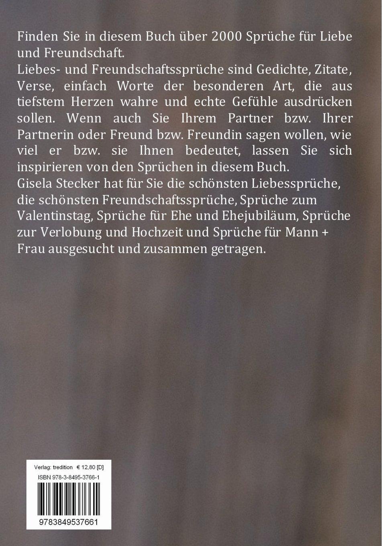 Spruche Fur Liebe Freundschaft Amazon Co Uk Gisela Stecker