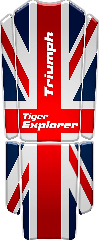 PARASERBATOIO ADESIVO RESINATO EFFETTO 3D compatibile con T.riumph Tiger Explorer v2