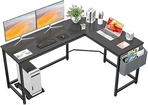 Homfio L Shaped Desk 58 Computer Corner Desk Gaming Desk PC Table Writing Desk Large L Study Desk Home Office Workstation Modern Simple Multi-Usage Desk