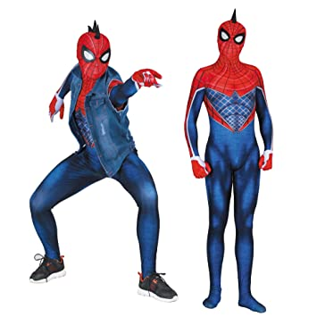 TOYSSKYR PS4 Punk Spiderman Cosplay Traje Elástico Medias ...