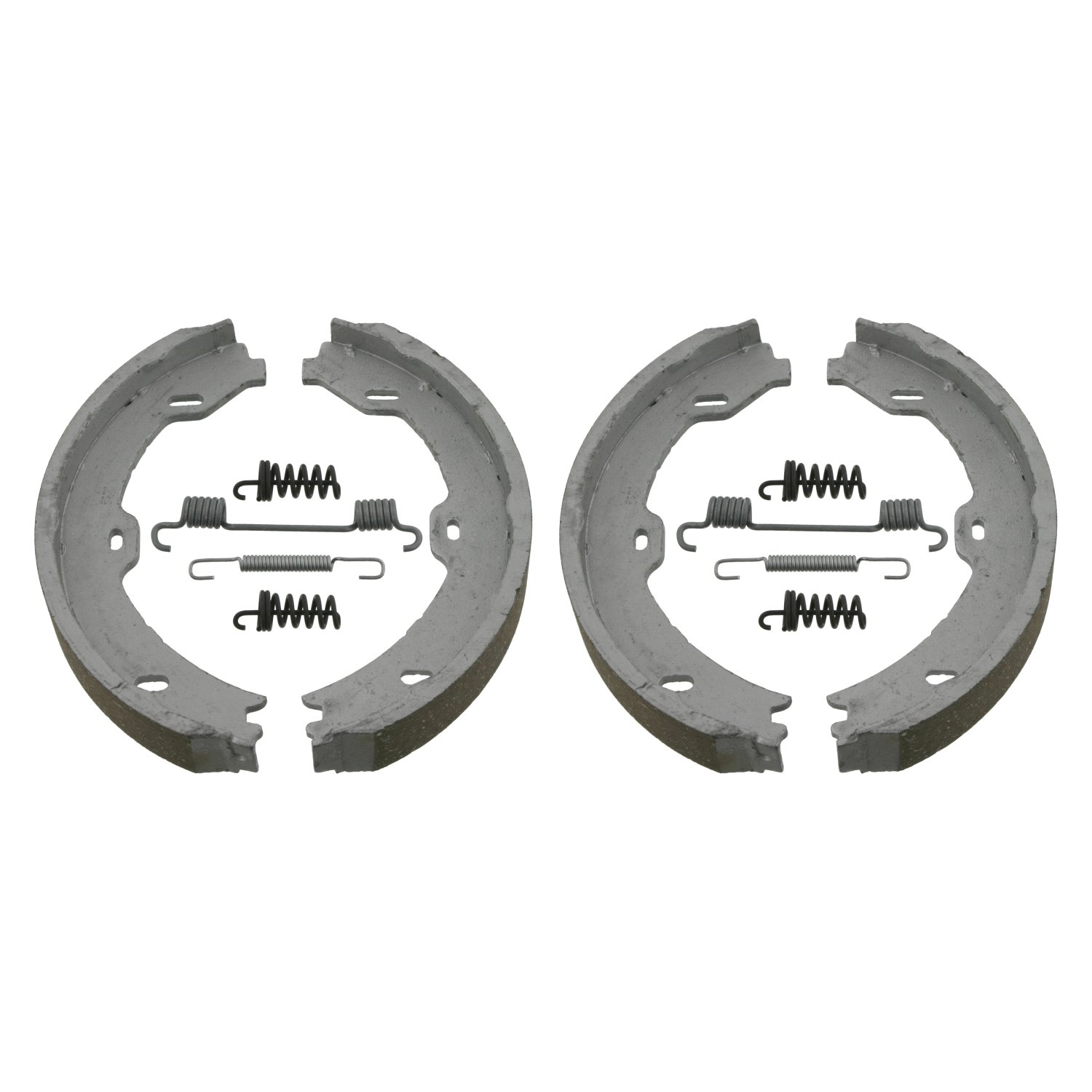 pack of two febi bilstein 02100 Brake Shoe Set for parking brake with additional parts