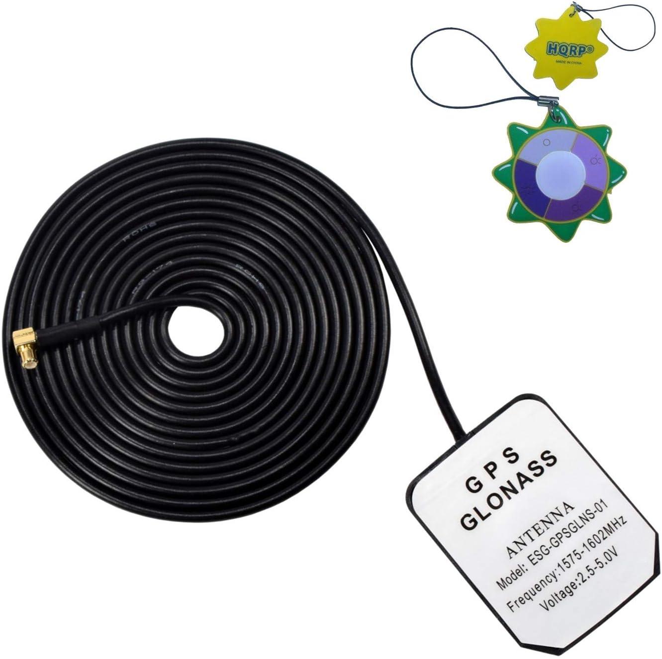 HQRP Antena externa GPS amplificada 1575.42 MHz de montaje magnético para AT&T Cisco 3G MicroCell Extensor de red de antena inalámbrica GPS (DPH151) + HQRP medidor del sol