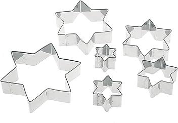 Pedrini Linea Dolci Taglia Biscotti Stella, Acciaio Inossidabile, Giallo, 26x12x2 cm, 6 Unità