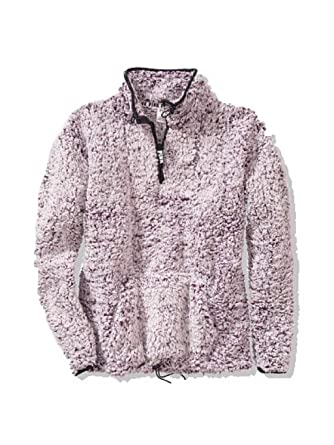a01c3e6db1a65 Victorias Secret Pink New Sherpa Quarter Zip Jacket Frosted Luscious ...