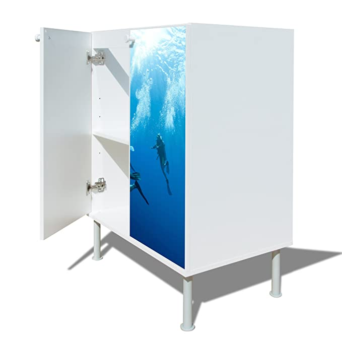 Modern Under-Sink Cabinet with Diver Motif: Amazon.co.uk: Kitchen & Home