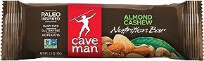 Caveman Foods Paleo-Friendly Nutrition Bar, Almond Cashew, 1.4 oz, 15 count